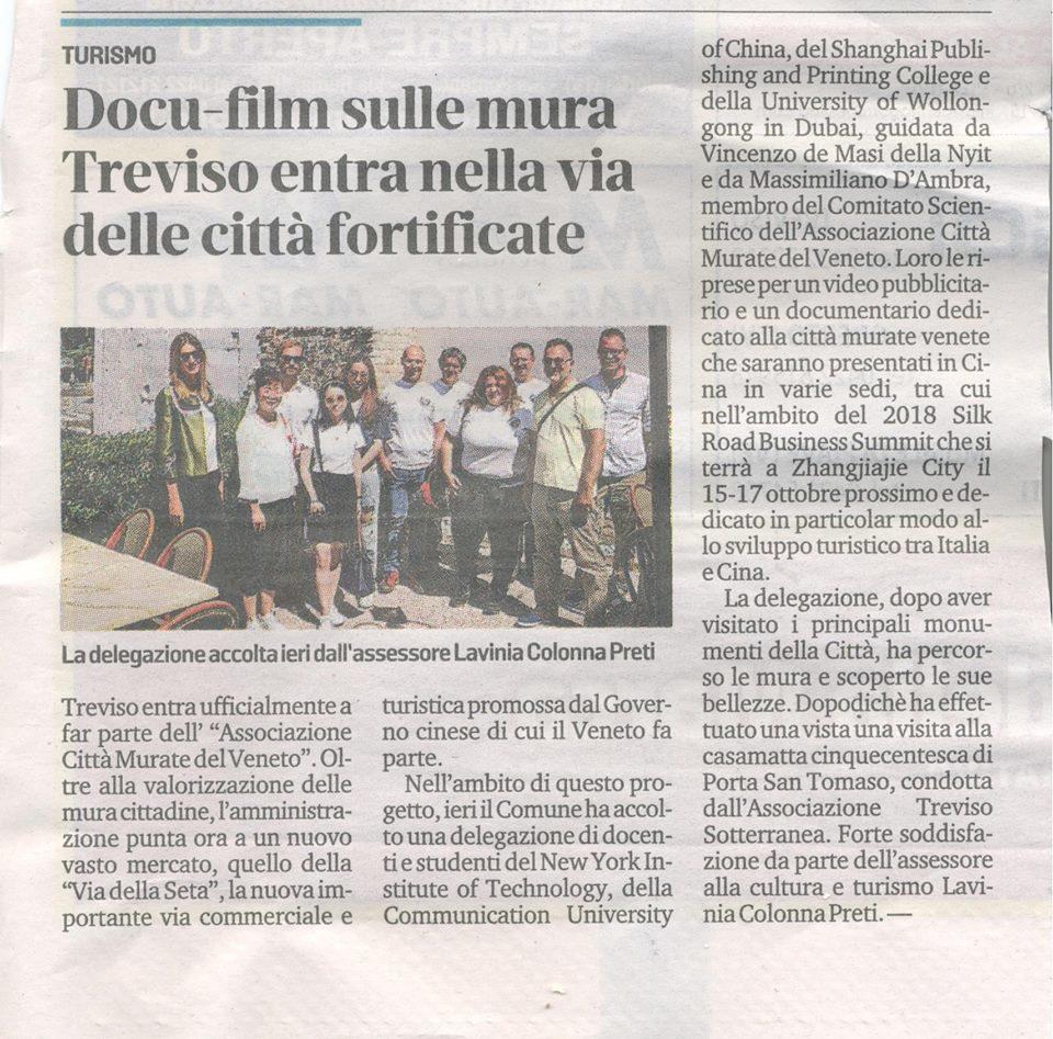 Docu-film sulle mura, Treviso entra nella via delle città fortificate